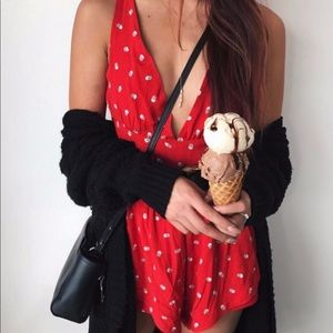 REVOLVE X State of Being Red Dot Romper